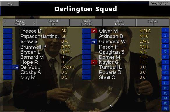 Darlo squad