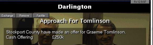 tomlinson off