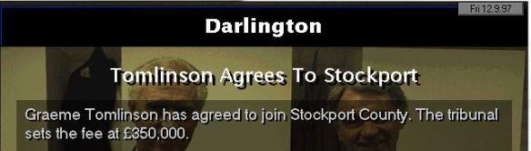 tomlinson to stockport