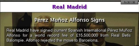 alfonso to RM