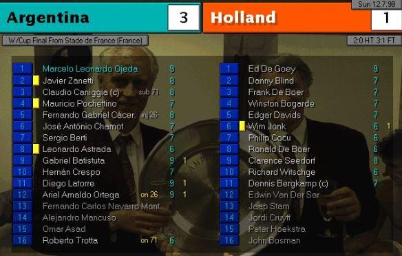 argentina 3 - 1 holland