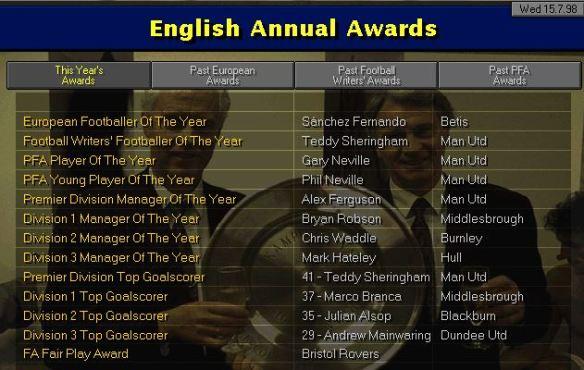 Awards 98