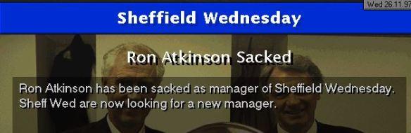 big ron sacked