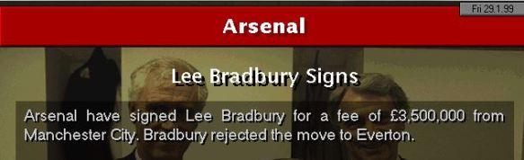bradbury to arsenal