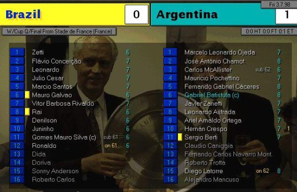 brazil 0 - 1 argies