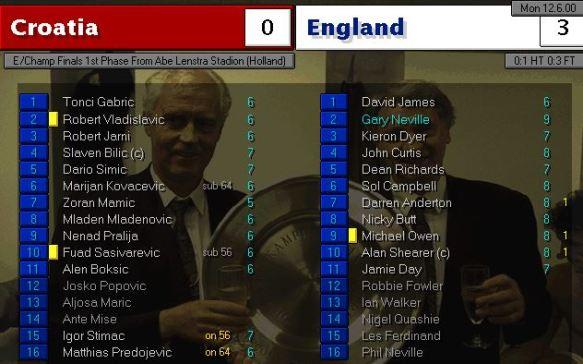 croatia 0 - 3 england