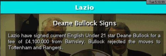 deane bullock to lazio