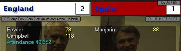 england 2 - 1 spain