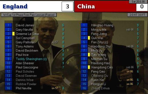 england 3 - 0 china