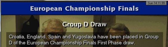 Euro 2000 draw for england