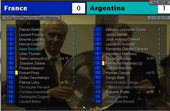 france 0 - 1 argentina