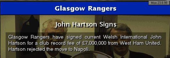 hartson to rangers