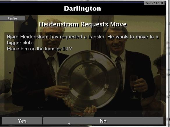 heidenstrom transfer request