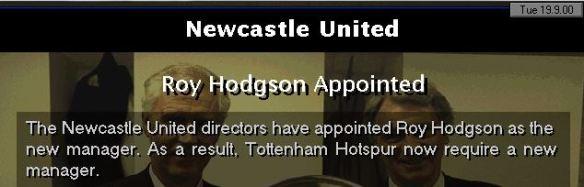 hodgson to newcastle