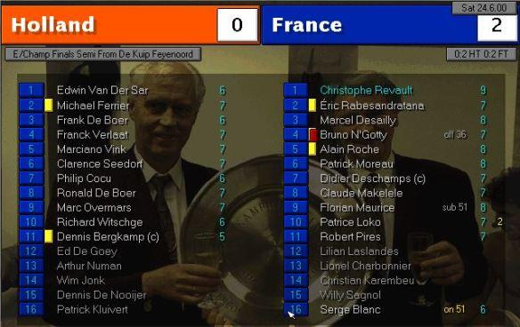 holland 0 - 2 france