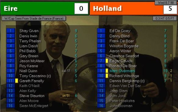 ireland 0 - 5 holland
