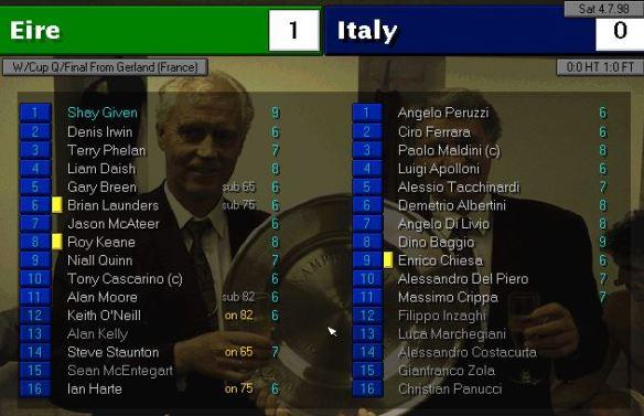 ireland 1 - 0 italy