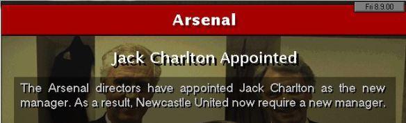 jack charlton to arsenal