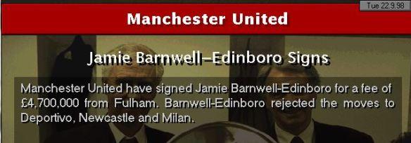 JBE to Man Utd