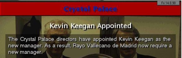 keegan to palace
