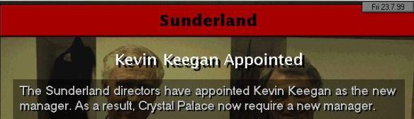 keegan to sunderland