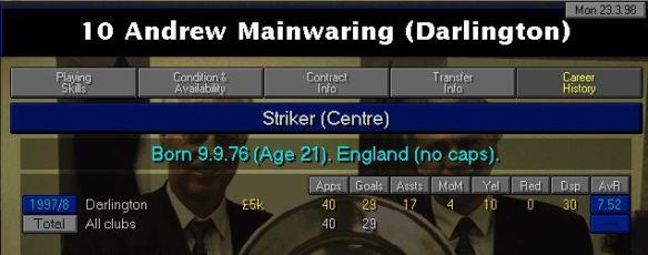 mainwaring career