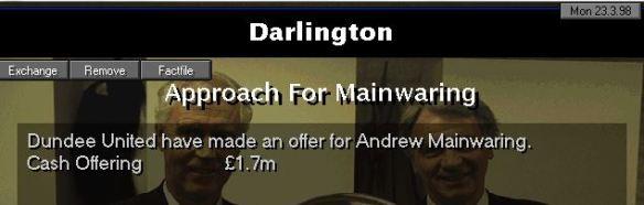 mainwaring offer