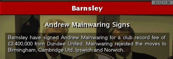 mainwaring to barnsley