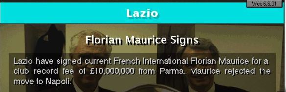 Maurice to Lazio
