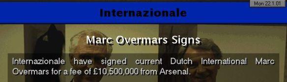 overmars to inter