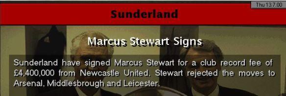 stewart to sunderland
