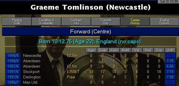 tomlinson career