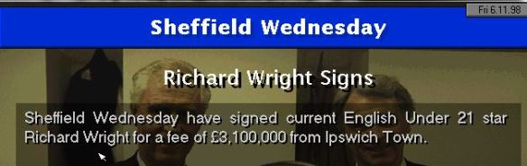 wright to sheff wed
