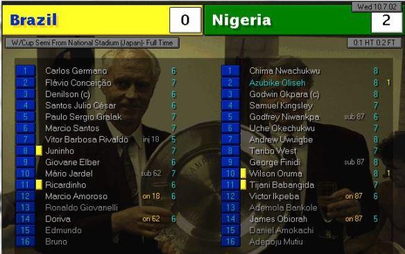 brazil 0 - 2 nigeria