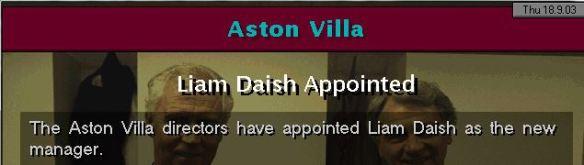daish to villa
