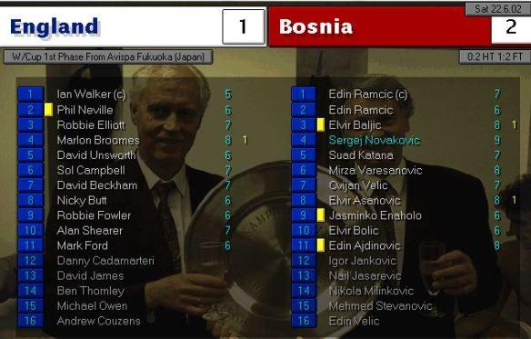 england 1 - 2 bosnia