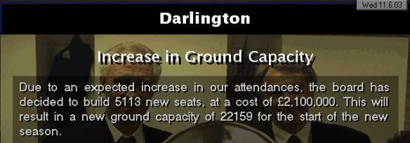 increase in capacity