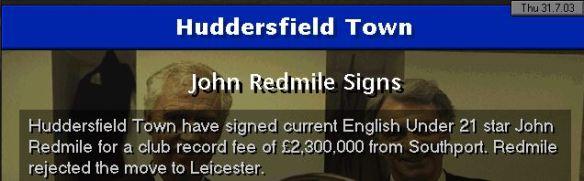 redmile to huddersfield