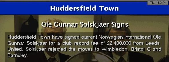 solskjaer to huddersfield