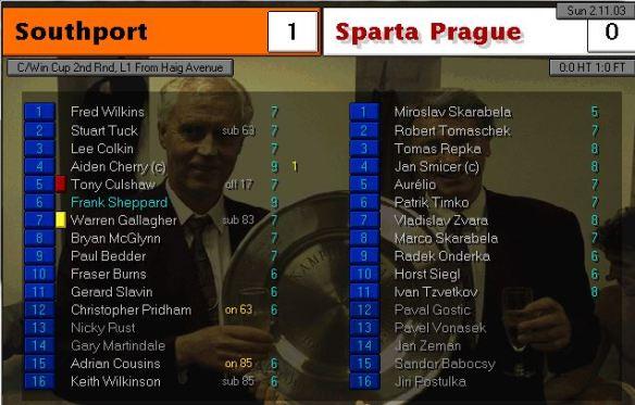 southport 1 - 0 slavia prague
