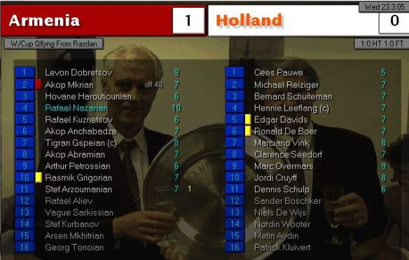 armenia 1 - 0 holland