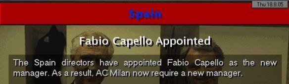 Capello to Spain