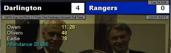 darlo 4 - 0 rangers