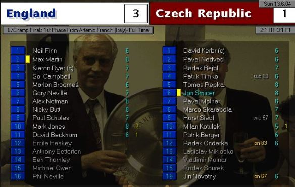england 3 - 1 czechs