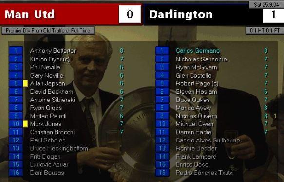man utd 0 - 1 darlington