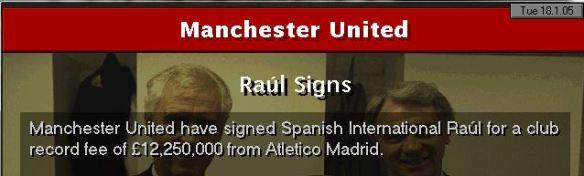 Raul to Man Utd