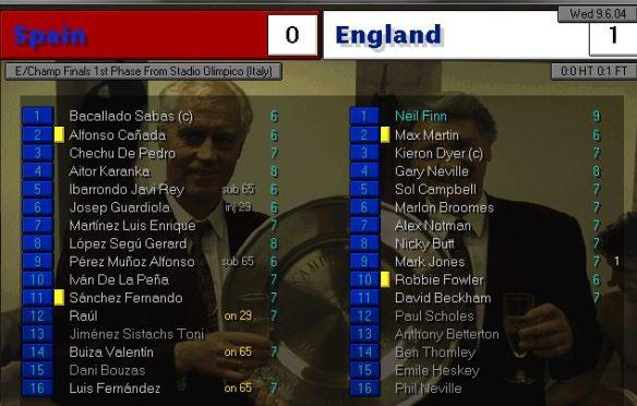 spain 0 - 1 england