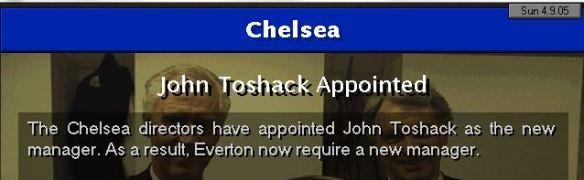 toshack to chelsea