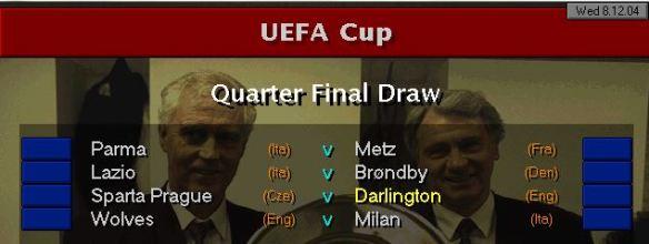 UEFA Cup QF Draw