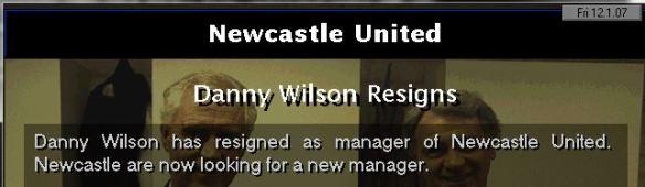 danny wilson resigns